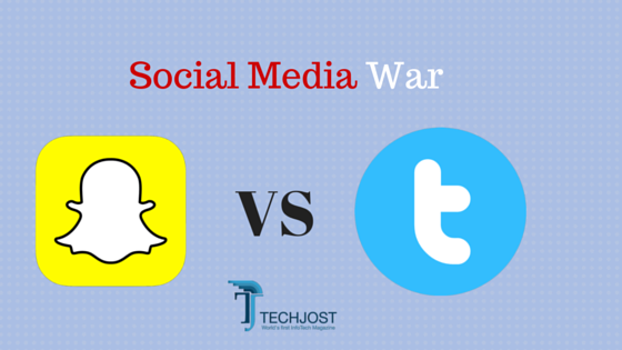 Sanpchat vs Twitter - War Between Social Media Giants