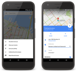 Google Maps added car parking feature