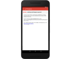 Phishing protection added in GMAIL on Android after Malicious attack